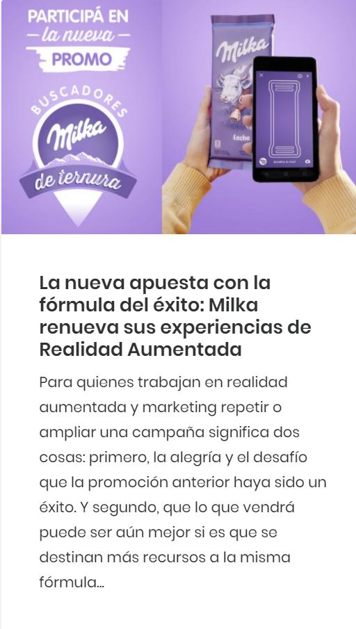 milka app realidad aumentada augmented reality