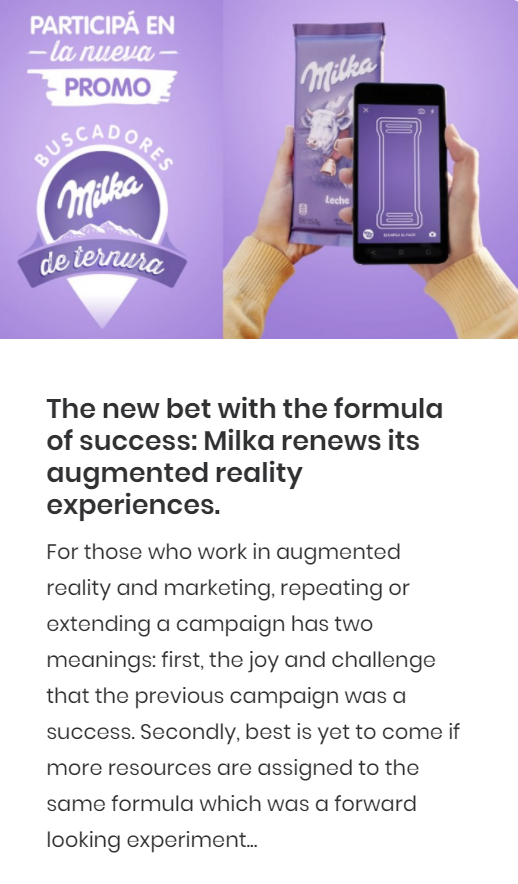 augmented reality milka